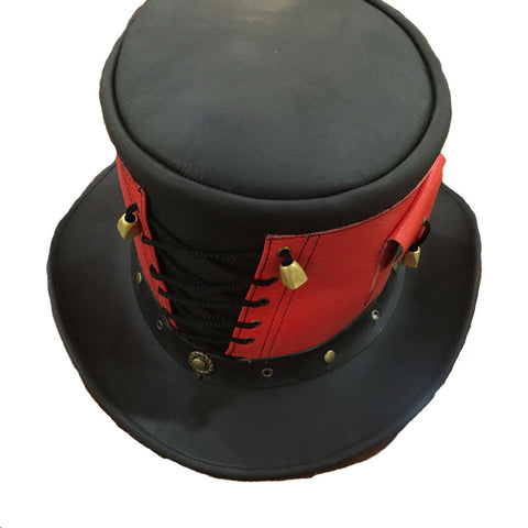 Red Rover Top Hat - Premium Leather Hat