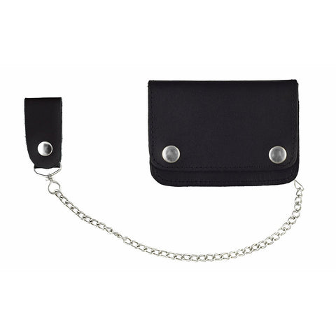 VA420 Men's Bifold Premium Biker Wallet with Chain