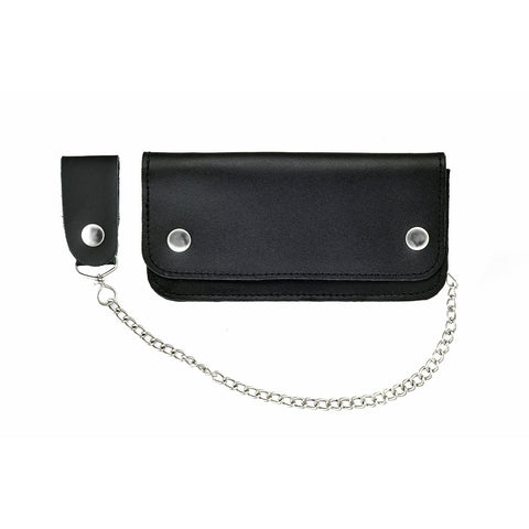 VA422 Men's Bifold Biker Wallet and Chain with Multiple Designs