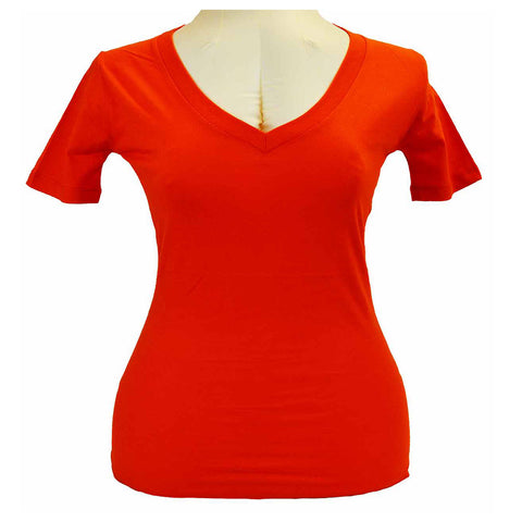 VB115 Ladies V-Neck Tee Shirt