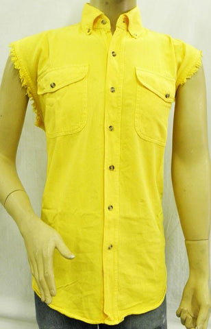 VB707 Men's Yellow Cutoff Shirts