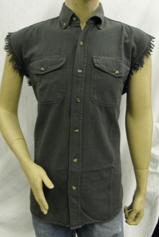 VB710 Men's Charcoal Cutoff Shirts