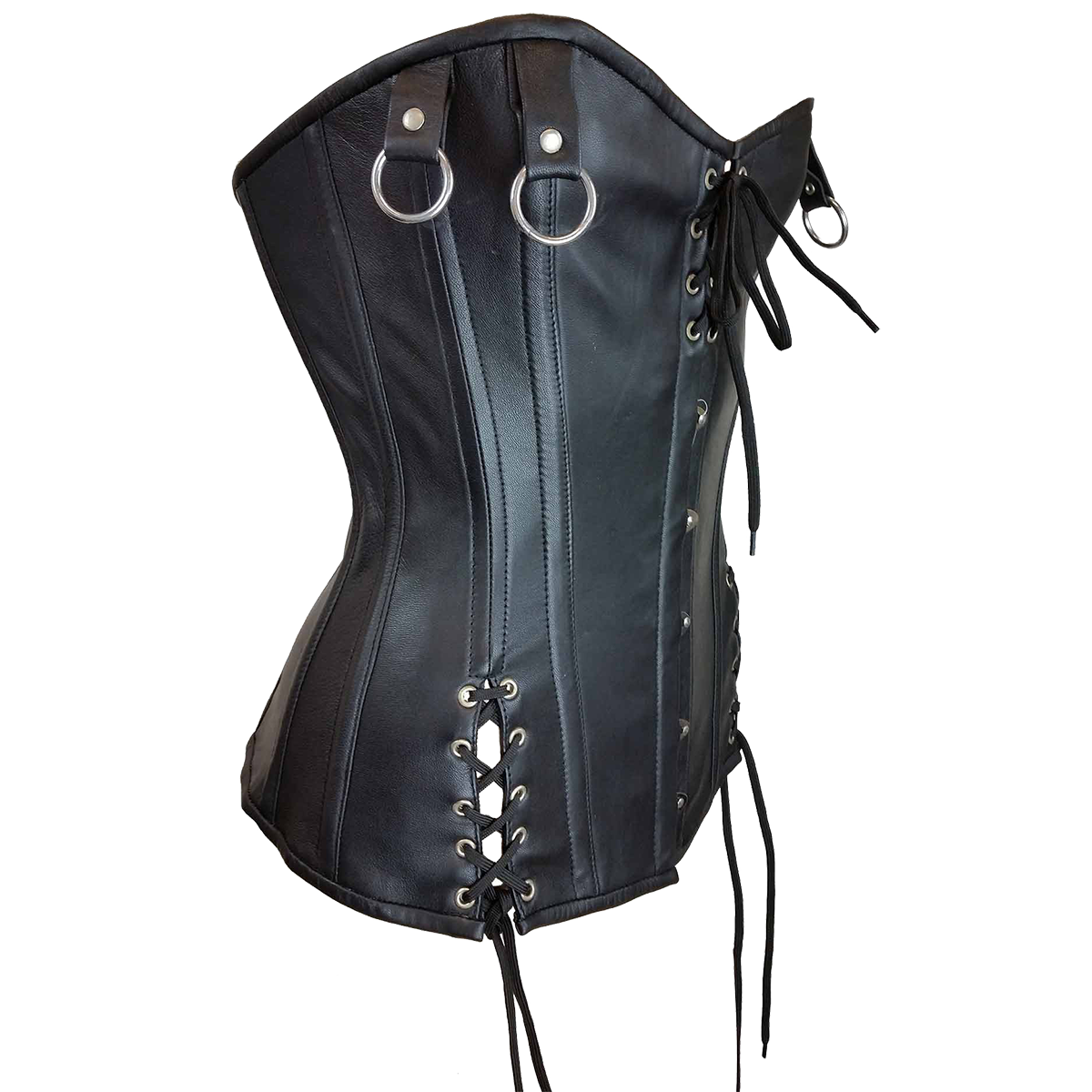 0c61e56316 ... VC1321 Vance Leather Ladies Laced Top and Sides Corset with Hook and  Eye Closure