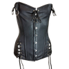VC1321 Vance Leather Ladies Laced Top and Sides Corset with Hook and Eye Closure