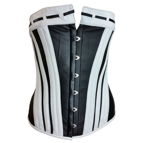 VC1341 Vance Leather Ladies Black and White Corset
