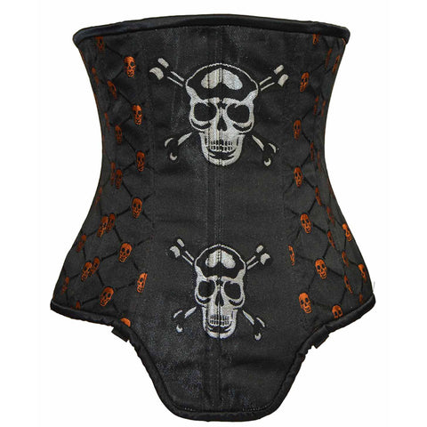 Ladies Brocade Corset with Skulls