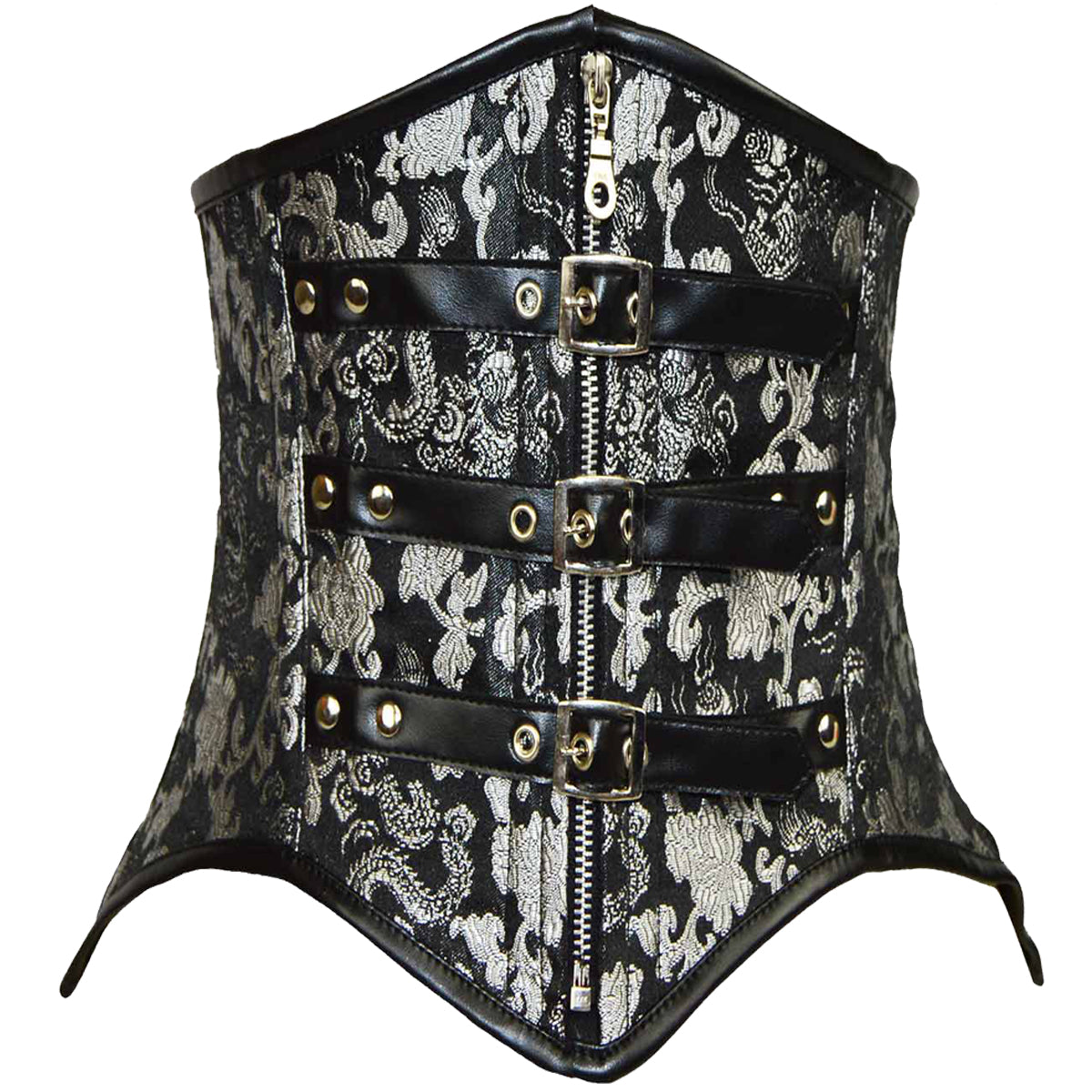 d931b5e290 VC1406 Ladies Brocade Corset Black with Silver – Vance Leather