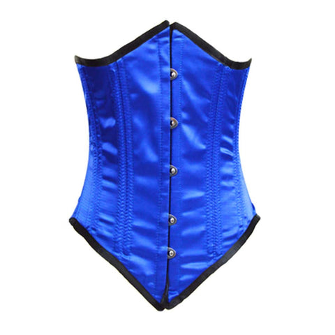 VC1451BL Ladies Blue Satin Corset