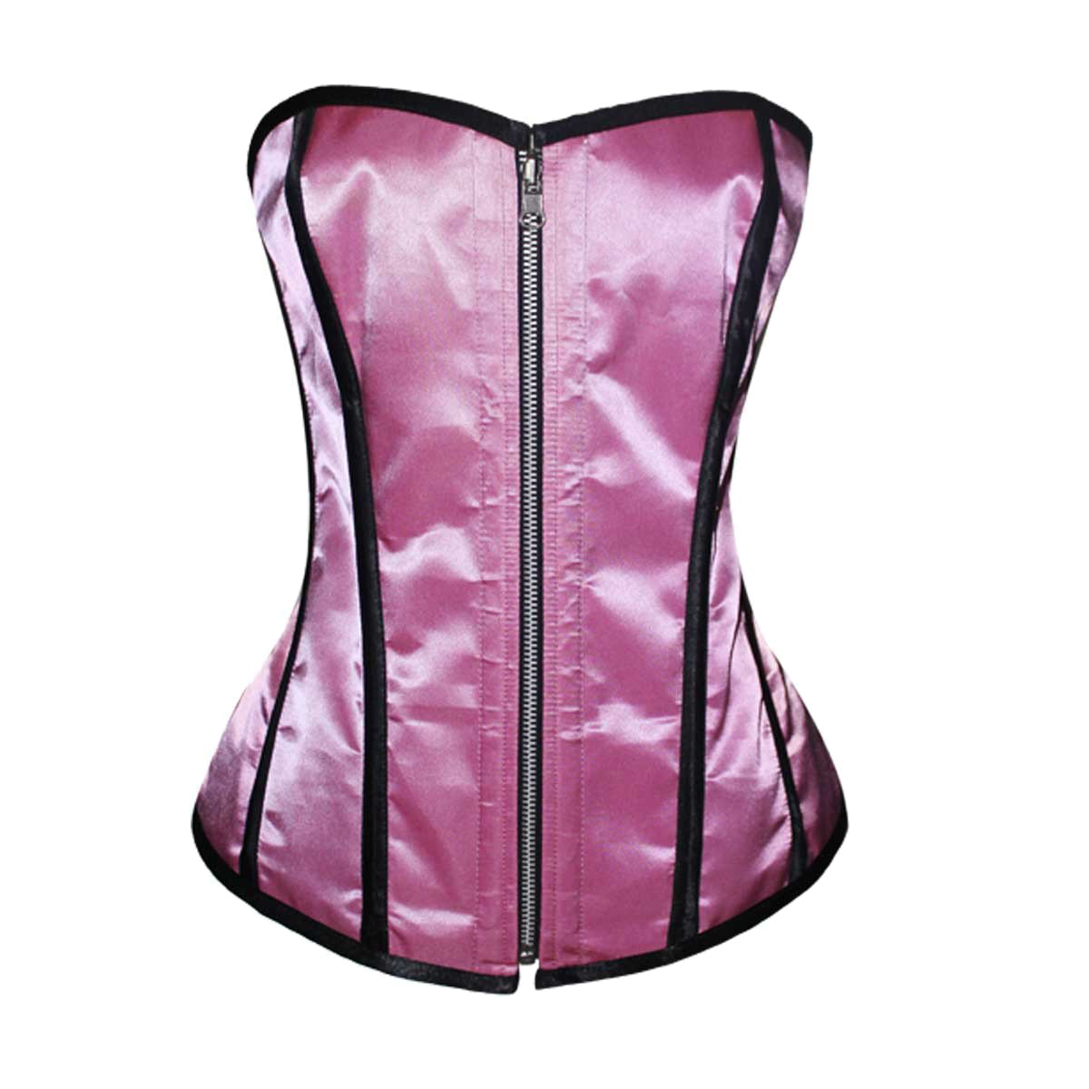 dc2270a74d VC1452 Ladies Satin Corset Reversible Black and Pink – Vance Leather