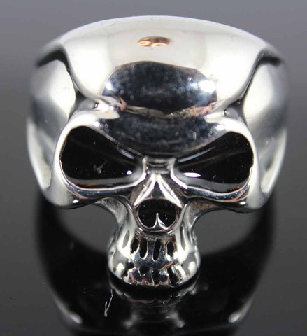 VJ1013 Stainless Steel Men's Punisher Skull Ring