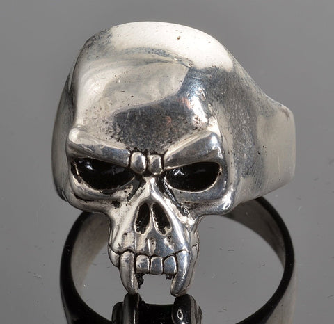 VJ1016 Stainless Steel Men's Vampire Skull Ring
