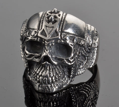 VJ1022 Stainless Steel Men's Cyborg Skull Ring