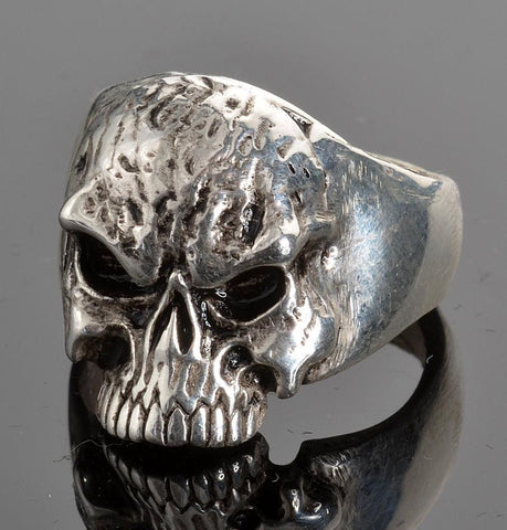 VJ1025 Stainless Steel Men's Fear No Evil Skull Ring