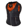 Ladies Plain Side Zipper Vest with Zip Pockets
