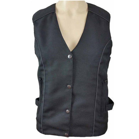 Ladies Textile Vest with Reflective and Embroidered Wings