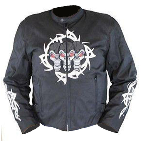 VL1529 Textile Jacket with Reflective Skull and Razor Wire Highlights