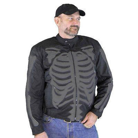 VL1530 Reflective Skeleton Textile Jacket with Dark Gray Bones