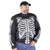 VL1531 Men's Textile Jacket with Gray Reflective Skeleton and Armor