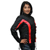 VL1556 Ladies Textile Crystal Jacket with Color Accents