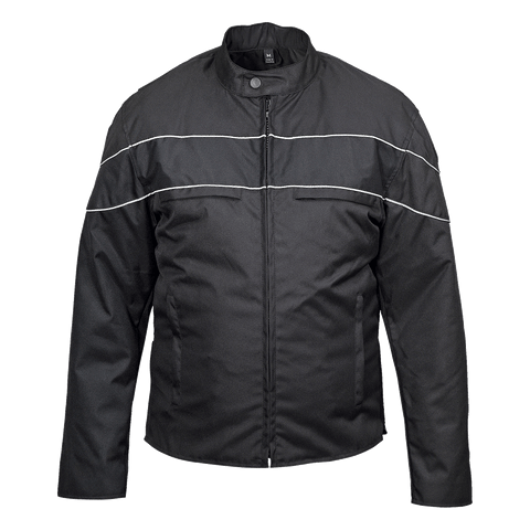 VL1558B Men's Cordura Jacket with Accent Stripe and Reflective Bands