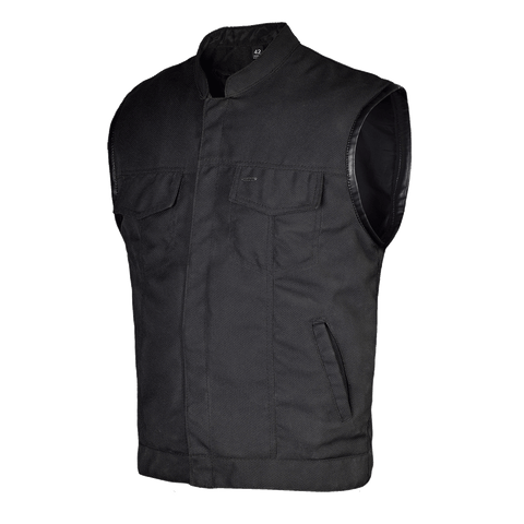 Heavy Duty Textile Club Vest with Snaps And Zipper Closure