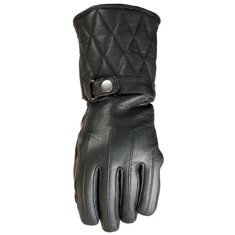 VL472 Waterproof Padded Gauntlet Leather Gloves