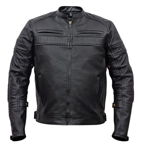 Vance Leather Men's Padded/Vented Scooter Jacket