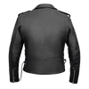 Men's Basic Classic Motorcycle Jacket with Lace Sides & Zip out Liner