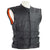 Tactical Bullet Proof Style Naked Cowhide Leather Vest