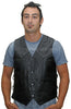 VL924 Vance Leather Men's Lace Side Vest with Single Seam Back