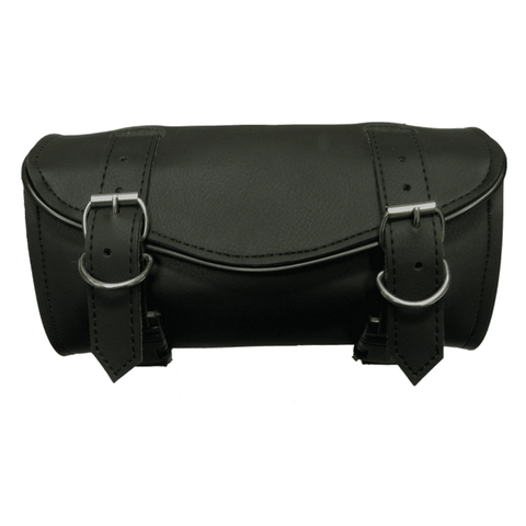 VS104H Vance Leather 2 Strap Plain Hard Shell Tool Bag with V-Shaped Flap