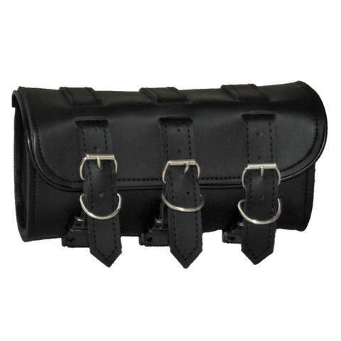 VS107H Vance Leather 3 Strap Square Plain Tool Bag