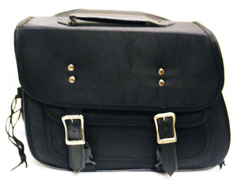 VS260 Vance Leather Medium Slant Textile Saddle Bag