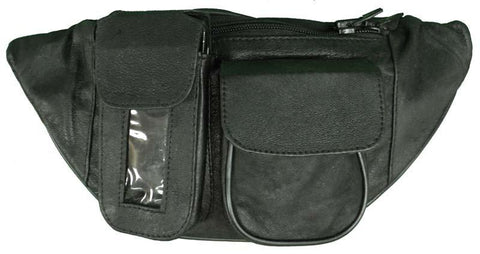 VS404 Vance Leather Magnetic Tank Bag/Fanny Pack with 3 Pockets