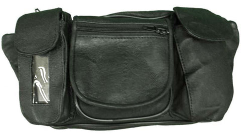 VS405 Vance Leather Magnetic Tank Bag/Fanny Pack with 5 Pockets