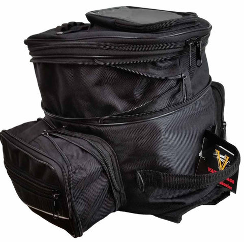 VS409 Vance Leather Medium Magnetic Expandable Tank Bag with Cell Phone Pocket