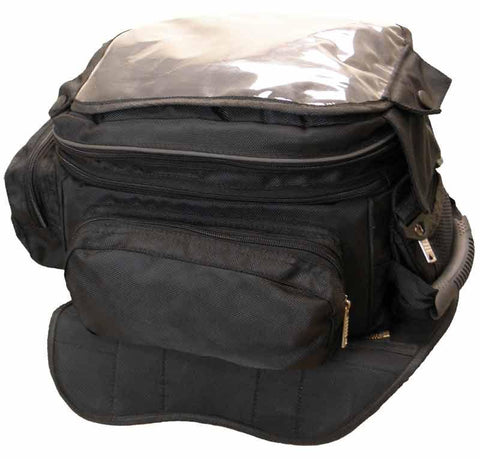VS410 Vance Leather Large Magnetic Tank Bag with Map Pocket