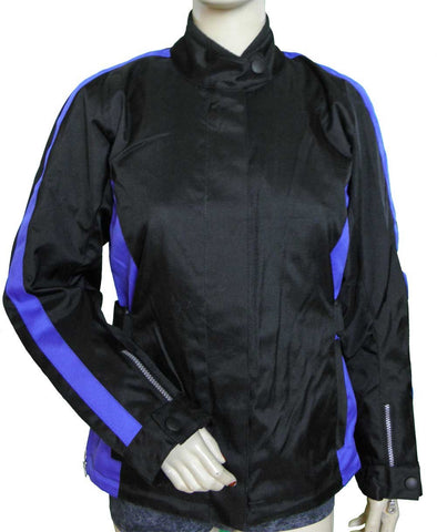 VL1570 Ladies Contoured Textile Jacket with Colored Accent Sides & Reflective Piping