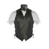 VL923S Vance Leather Men's Milled Leather Lace Side Braid Vest W/ Gun Pocket