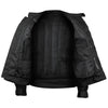 Black Mesh Motorcycle Jacket with Insulated Liner and CE Armor