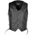 VL922S Vance Leather Men's Economy Leather Lace Side Vest W/ Gun Pocket