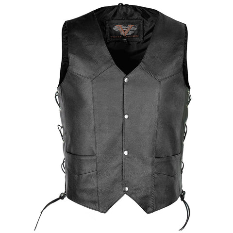 VL902 Vance Leather Men's Top Grain Lace-Side Vest