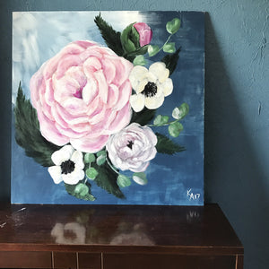 Blooms in Acrylic on wood. 24x24