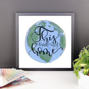 "Framed print ""This World"""