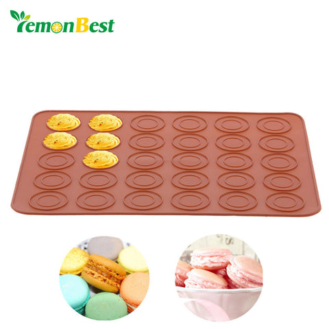 LemonBest Macaron Silicone Pot Cake Decorating Pastry Tools Muffin/Cake DIY Food Grade Silicone Mold Baking Kitchen Baking Tool