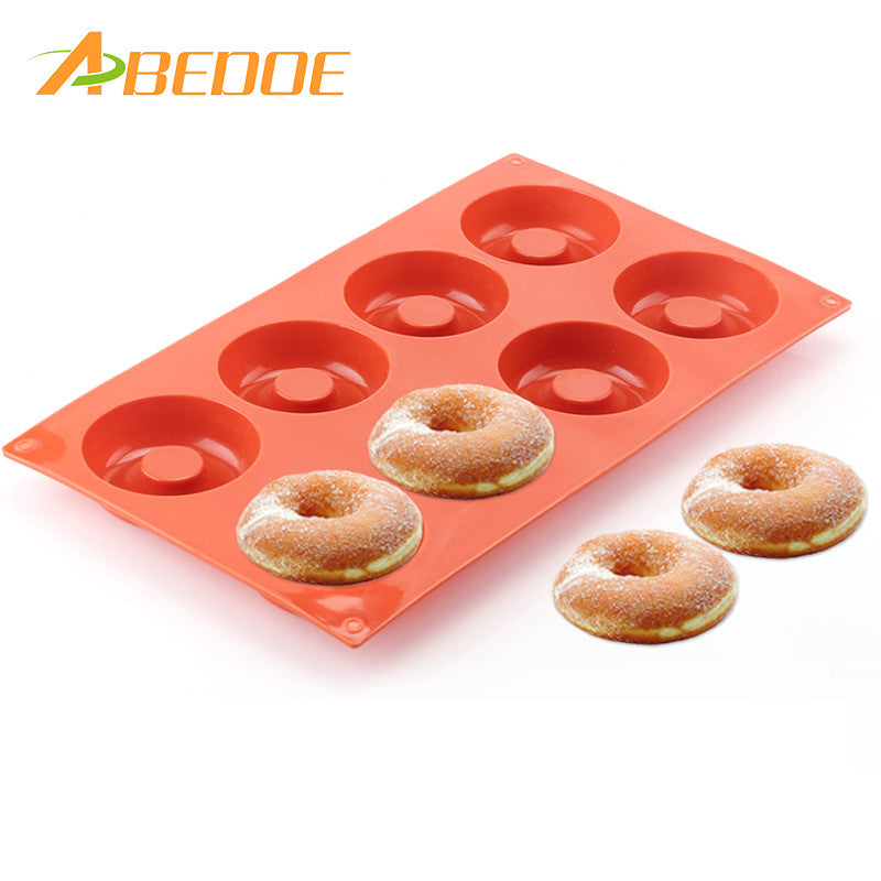 ABEDOE Silicone Donut Muffin Mould Chocolate Cake Cookie Pan Baking Mold Candy Mould Great Bar Party For Christmas Halloween