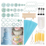 BESTOMZ 54pcs Cake Embossing Mold Set 18-Type Sugarcraft Plungers Cutters Tools Cake Fondant Decorating Supplies