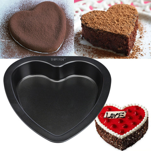 7-inch Heart-shaped Cake Mold Baking Carbon Steel Non Stick Bakeware Cake Pan