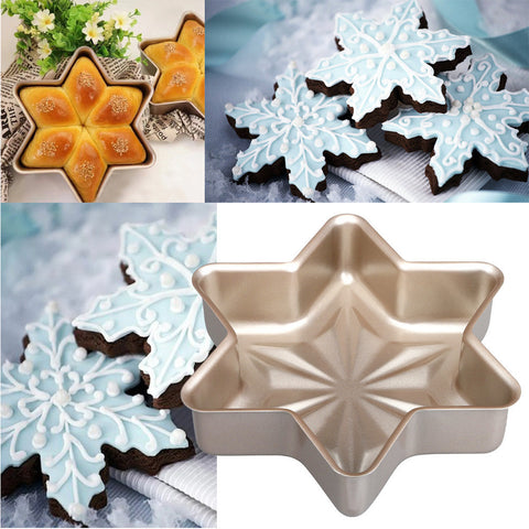 Non-stick Snowflake Cake Bun Pan Bread Mold Bakeware Kitchen Cake Mold
