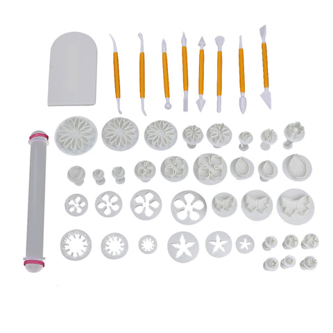 33/47/68Pcs/set Flower Sugarcraft Fondant Plunger Mold Party Cake Decorating Tools Cake Cookie Cutters DIY Baking Tools